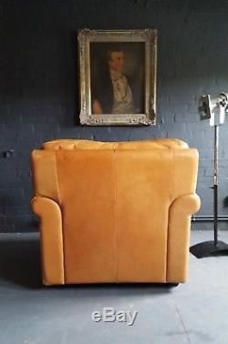 67 Chesterfield Tan Brown Tetrad Fauteuil En Cuir Vintage Club Courier Av