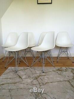 6 Chaises Véritable Charles Eames Dsr Pour Le Repas De Cuisine Vintage Vitra