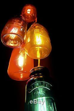 6 Manière Kilner Multicolore Jam Jar Pendentif Plafond Groupe + Free Uk P & P