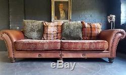 895. Tetrad Vintage Chesterfield 4 Canapé En Cuir Canapé Club Courier Disponible