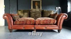 909. Canapé 3 Places Vintage Chesterfield En Cuir Tetrad Vintage - Club Club Disponible