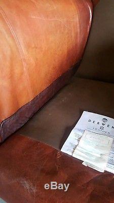 912. Duresta Chesterfield Vintage Club Fauteuil En Cuir Rouge Avec Porte-courrier Disponible