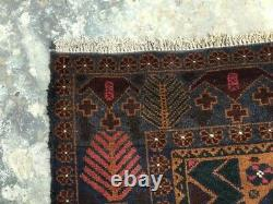 9730 Vintage Afghan Rug Turc Handmade Anatolian Tribal Bohemian Kilim Rug 4x7