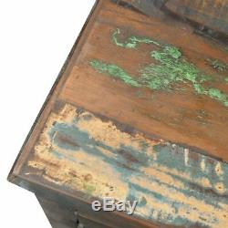 Accueil Meubles Vintage Régénérées Bois Côté Armoire De Rangement Support Multicouleur