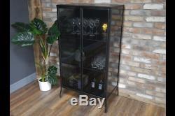 Affichage En Verre Noir Vintage Urbain Cabinet Industriel Armoire De Rangement 6763