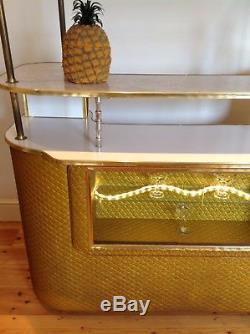 Années 50 Années 1960 Barre D'armoire De Cocktail Retro Vintage MID Century Modern