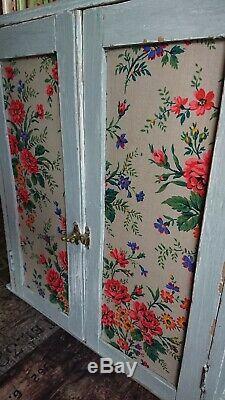 Antique Vintage Chic Pin Armoire Murale Étagère Armoire D'affichage Française Ferme Gris