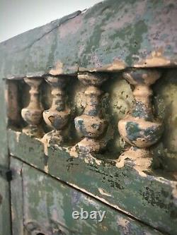 Antique Vintage Indien Art Déco Affichage Salle De Bains Armoire De Cuisine. Jade Et Vanille