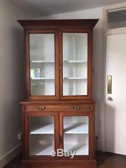 Antique Vintage Vitrine Armoire Cuisine Garde-manger Bibliothèque