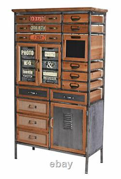 Apothekerkommode Retro Closet Cabinet Industrial Apothicaire Bois Dresser Loft