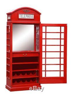 Armoire À Boissons Iconic Bt Barre De Style De Téléphone Dans Un Pilier Rouge