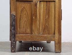 Armoire D'armoire De Cuisine Vintage En Bois De Teck Rustique (ref576)
