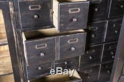 Armoire De Bar Grande Peinture En Détresse Style Vintage Stockage De Six Pièces