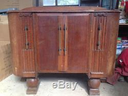 Armoire De Cabinet De Buffet Solide En Bois Vintage Rétro Ercol