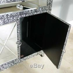 Armoire De Rangement À Miroir Avec Tiroir Et 2 Portes