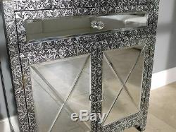 Armoire De Rangement À Miroir Vintage 2 Portes 1 Tiroir Vivant Vivant Armoire De Meubles