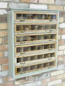Armoire De Rangement Armoire Murale Rustique Vintage Étagère Coffre Verre
