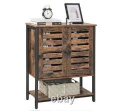 Armoire De Rangement Industrielle Vintage Rétro Side Cabinet Table De La Console De Porte Rustique