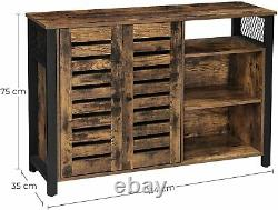 Armoire De Rangement Vasagle, Sideboard Avec 2 Portes, Étagères Réglables Lsc083b01