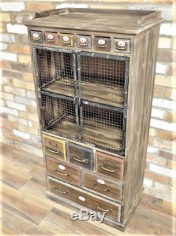 Armoire Industrielle Vintage En Bois En Bois Armoire Armoire Commode Coffre De Rangement