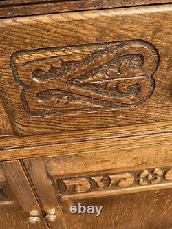 Armoire Latérale Vintage En Bois Massif Dresser Oak Charm White Rose Old Ercol