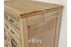 Armoire Multi-tiroirs En Bois Rustique De Grande Taille / Plaques De Texte Vintage / Panneau De Craie