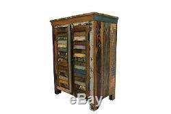 Armoire Vintage Régénérées Enfilade Porte En Bois Salle De Bains Cabinet Livraison Gratuite