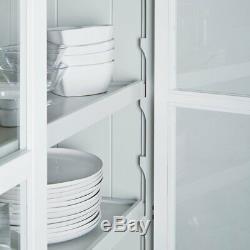 Armoire Vitrée The White Company, Cuisine, Gris Blanc, Salle À Manger, Rrp £ 995