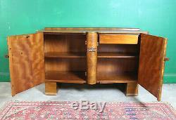 Art Déco Bahut, Cabinet, Noyer, Vintage, Salon, Cuisine, Chambre