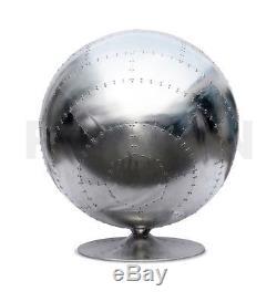 Aviator Egg Ball Pod Chaise Spitfire Vintage En Cuir Marron Rétro Pivotant