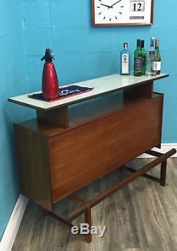 Bar À Cocktail Bar À Cocktail En Teck Style MID Century Retro Vintage