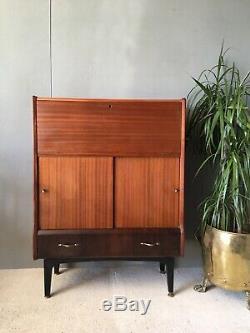 Belle Danoise Style Jentique Boissons Bureau Du Cabinet Bureau D'ordinateur Armoire À Tiroirs