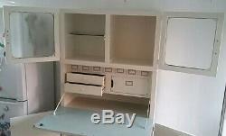 Belle Élégant Vintage Retro Kitchenette Unité Armoire Cabinet Office Larder