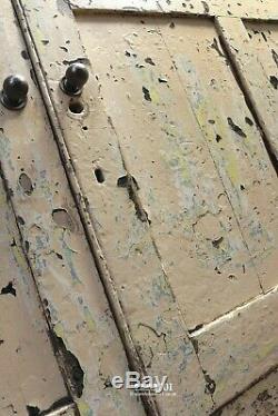 Belle Old Vintage Aged Deux Portes En Bois Peint Bahut Cuisine Hall D'entrée Rangement