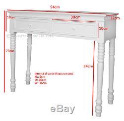 Blanc Croquante De Style De Belgravia Blanc / Table De Hall Shabby / Chic
