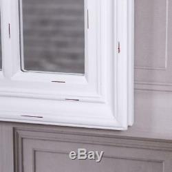 Blanc Grande Arche Miroir Mural Shabby Chic Vintage Fenêtre Style 120cmx50cm