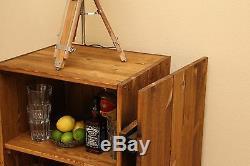 Boissons Cabinet Armoire Vintage Shabby Chic Style Boîte En Bois Cargo Poitrine Braun