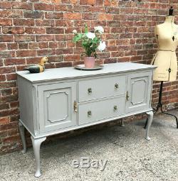 Bonne Qualité Antique Acajou Massif Peint Bahut, Cabinet, Dresser Base