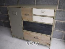 Buffet Vintage De Meubles De Stockage De Style Rétro De Cabinet En Métal Industriel