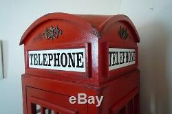 Cabine Téléphonique Affichage Cabinet Rouge Britannique Cabine Téléphonique