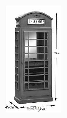 Cabinet Bt Drinks Iconic Telephone Box Bar Style Dans Haigh Bleu