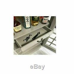 Cabinet Bt Drinks Iconic Téléphone-bar Style Gris Pierre