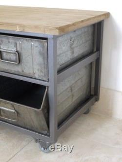Cabinet D'affichage D'unité De Tv De Buffet De Cabinet De Style Rétro Industriel En Métal De Cabinet