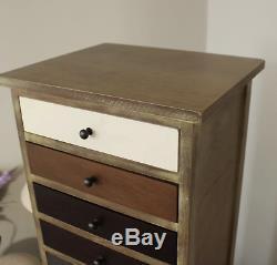 Cabinet D'apothicaire Vintage, Tiroirs Hauts, Coffre De Style Industriel, Meubles Tallboy