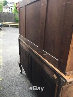 Cabinet Dresser Vintage Sculpté À La Main En Bois Tiroir Fait En Sussex