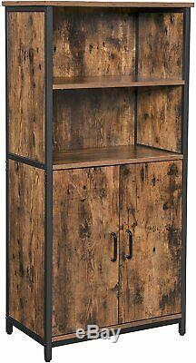 Cabinet Grand Industriel Armoire Cuisine Garde-manger Bibliothèque De Style Vintage Unité Rack