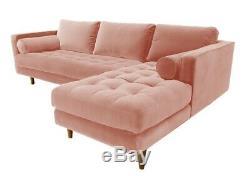 Canapé D'angle Droit À Droite, Vintage Harper Scott Vintage, Rose Prix De Vente Conseillé £ 1799-save £££