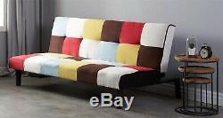 Canapé-lit Patchwork Canapé Inclinable De Bureau À Domicile De Style Nordique Vintage Rétro