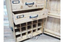 Cave À Vin Créative De Style Caisse Avec Mini Barre D'espace De Stockage De Tiroirs