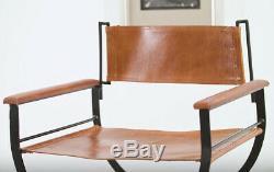 Chaise En Cuir Industriel Cuisine Salle À Manger Chambre Bureau Rétro Vintage Seat Fauteuil